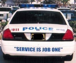 """Service is Job One"" I'd have an easier time believing this if they were held to the same standards that I am."