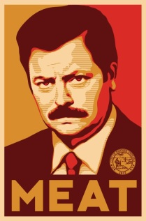 Fictional libertarian Ron Swanson has become a TV icon.
